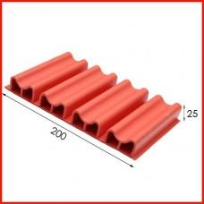 난연고무안전리브/선수보호벽/Safety Wall Rubber Panel/CH25 type/1㎡기준임