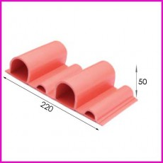 에코매트 난연고무안전리브 / 선수보호벽 / Safety Wall Rubber Panel / WR50 type / 1㎡기준임